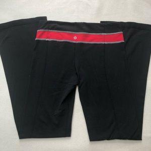 Lululemon Reversible Flare Yoga Pants Red Black